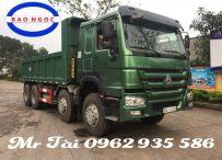Xe tải ben howo 4 chân thùng vuông nhập khẩu dài 6m