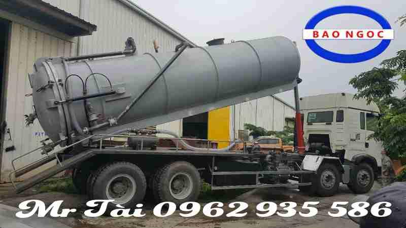 Xe hút chất thải Howo 15 khối T5G