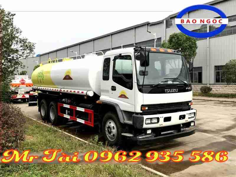 xe phun nước rửa đương tưới cây isuzu 12 m3