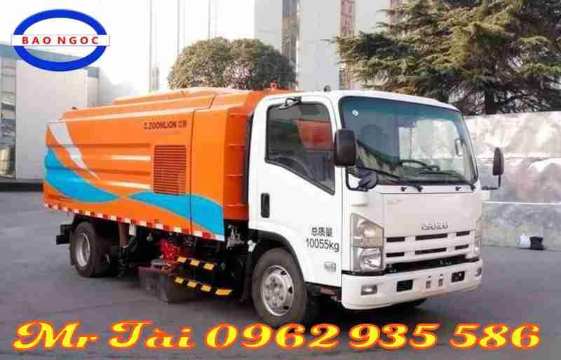 Xe quét hút rác bụi đường isuzu 8 m3 nhập khẩu