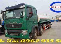 Xe phun nước rửa đường howo t5g 17 khối nhập khẩu