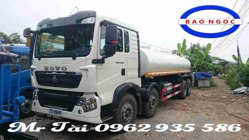 xe phun nước rửa đường howo t5g 17 m3