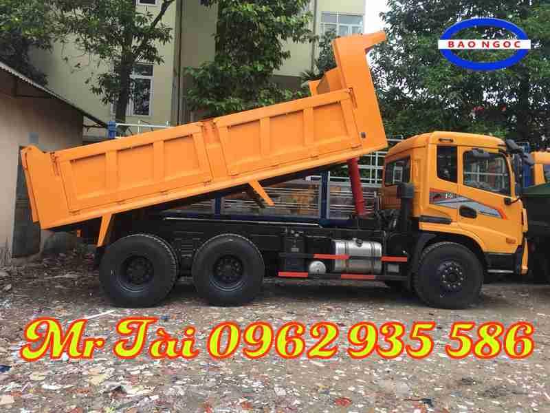 xe ben Trường Giang 3 chân tải trọng 13,3 tấn.