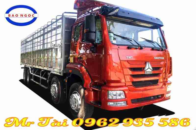 xe tải thùng howo 4 chân tmt - sinotruck