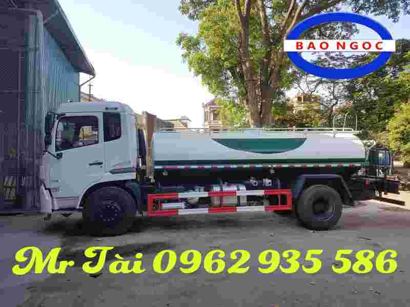 Xe phun nước rửa đường dongfeng 9 m3
