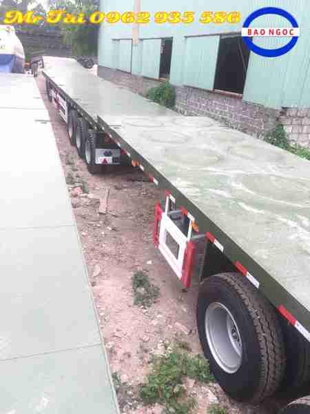Sơ mi rơ mooc sàn cimc 3 trục sàn phẳng tải trọng 32 tấn