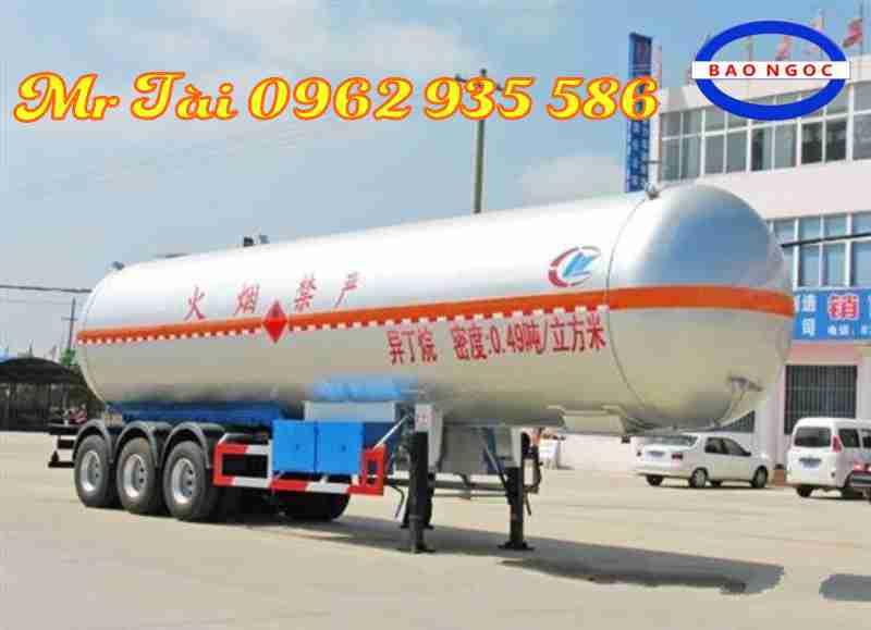 Bán sơ mi rơ mooc bồn khí Gas LGP 48 m3 nhập khẩu