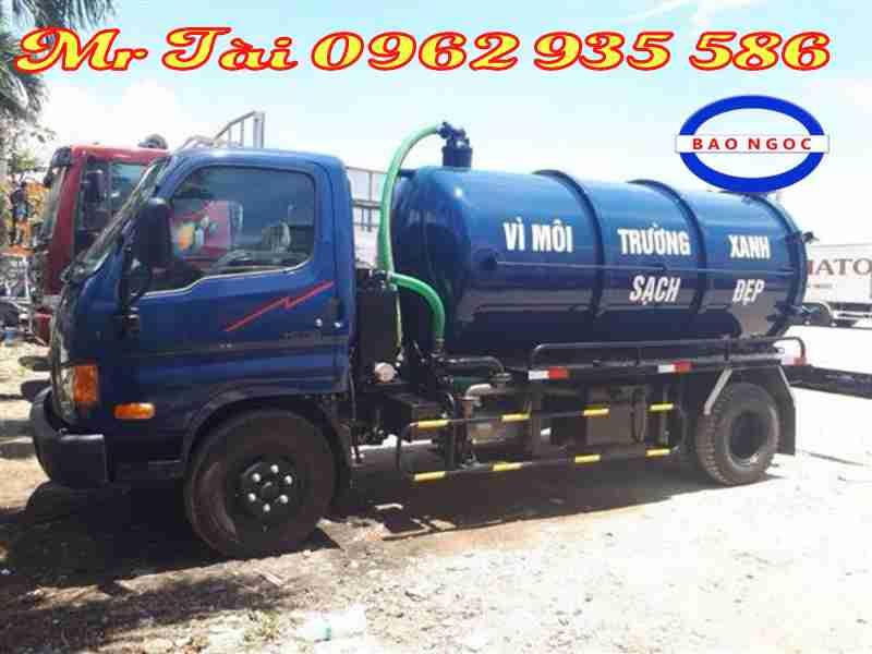 Xe hút chất thải 6 khối hyundai hd 700