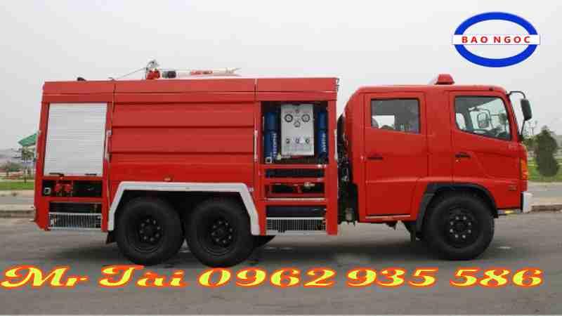 Xe chữa cháy hino FM 13 khối 12 M3 nước 1 m3 bọt