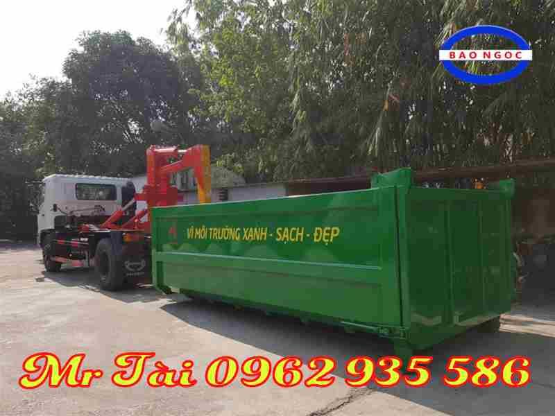 Xe hooklift chở rác thùng rời Hino 12 khốiFG8JJSB