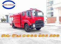 Xe chữa cháy cứu hỏa isuzu 7 khối khí thải EURO 4