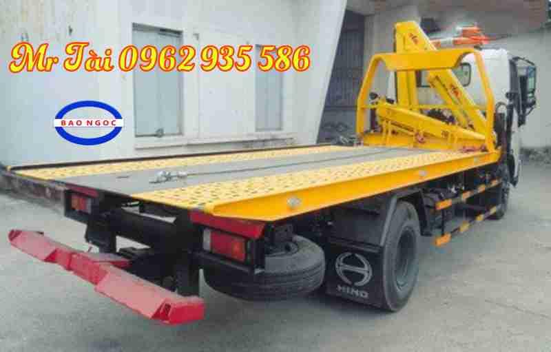 Xe cứu hộ giao thông hino 730 L gắn cẩu gập hyva 3 tấn