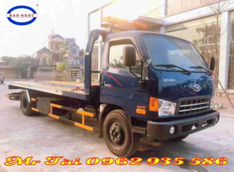 Xe cứu hộ giao thông sàn trượt kéo chở xe hyundai hd 120