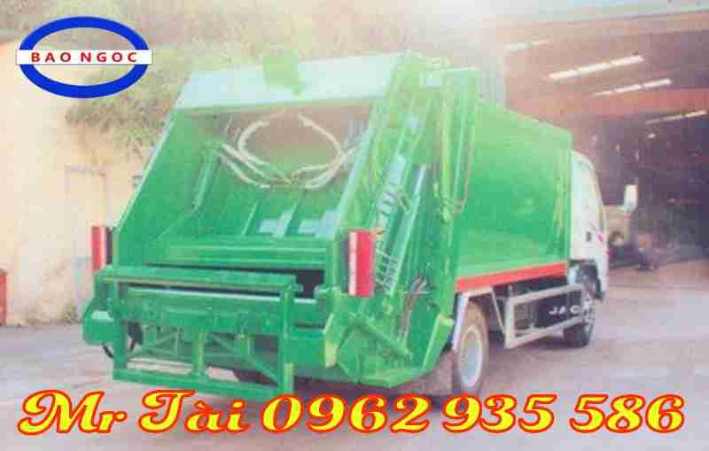 Xe ô tô chở rác 9 khối nhãn hiệu JAC