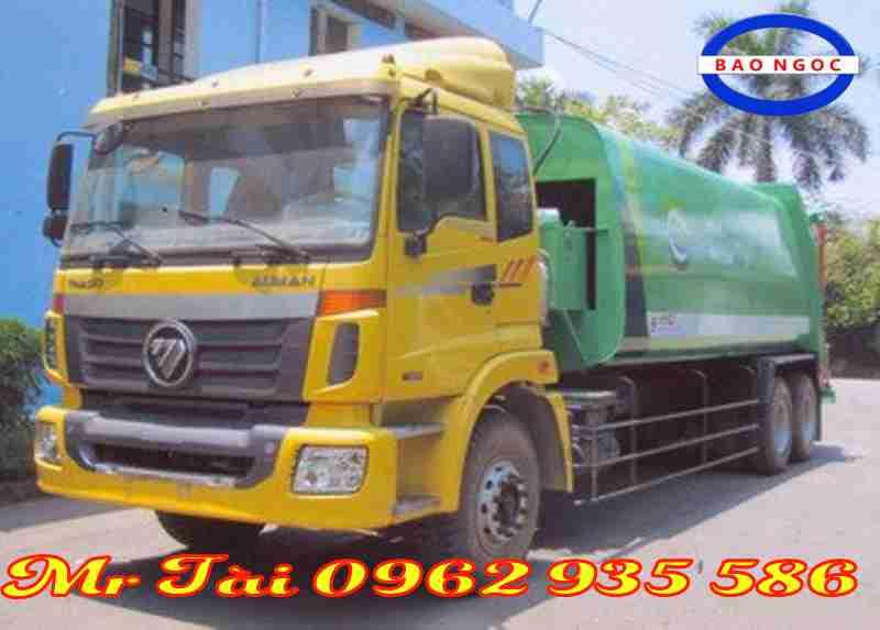 Xe ô tô chở rác (cuốn ép rác)19 khối thaco auman C240