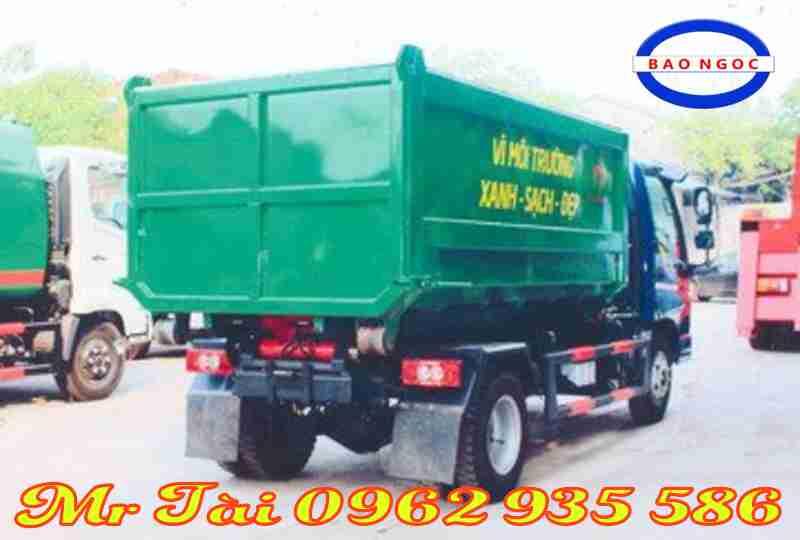 Xe ô tô chở rác ( cuốn ép rác) 9 khối ollin 500 B