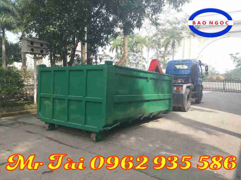 Xe chở rác thùng rời 14 khối thaco FD9500