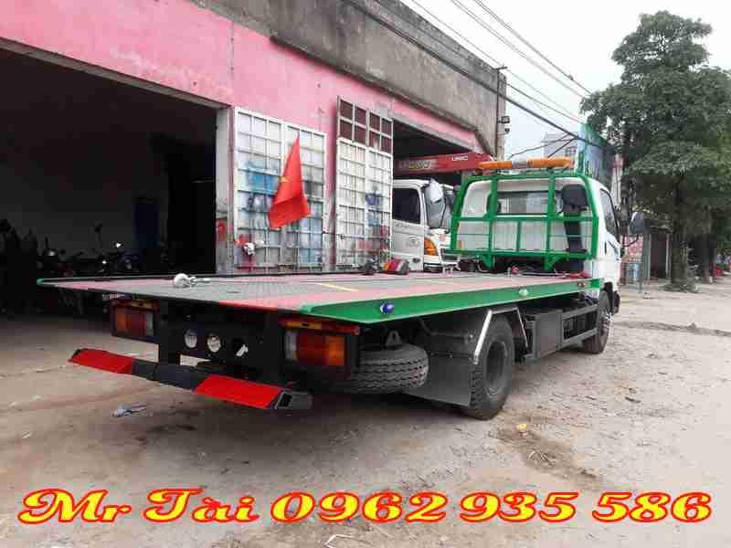 Xe cứu hộ giao thông sàn trượt 5 tấn hyundai 110s