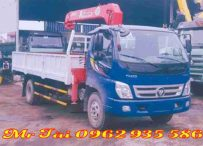 Xe tải thaco ollin 700B gắn cẩu unic 344( 3 tấn 4 đốt)