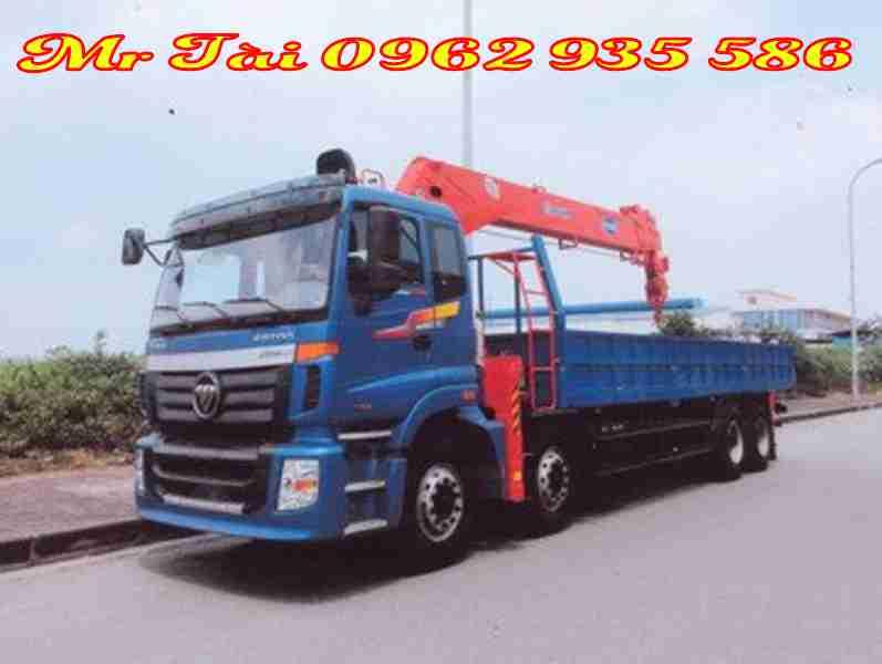 Xe tải thaco C300B gắn cẩu kanglim 10 tấn 5 đốt