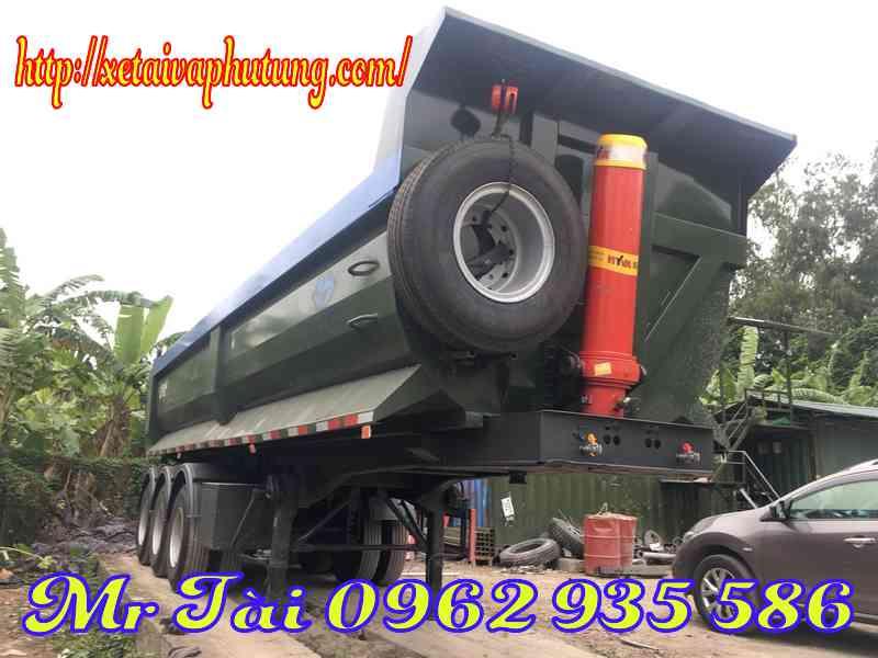 Sơ mi rơ mooc ben (mooc ben) Junli tải trọng 29 tấn