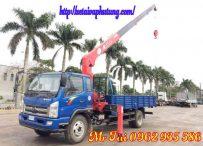 Xe tải TMT Cửu Long gắn cẩu unic 5 tấn 5 đốt