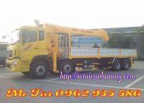 Xe tải dongfeng hoàng huy gắn cẩu soosan 12 tấn 5 đốt