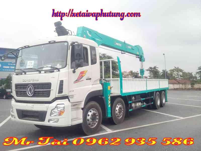 Xe tải hoàng huy gắn cẩu tự hành hktc 10 tấn 5 đốt