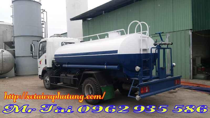 Xe ô tô xi téc chở nước howo sinotruck 6 m3