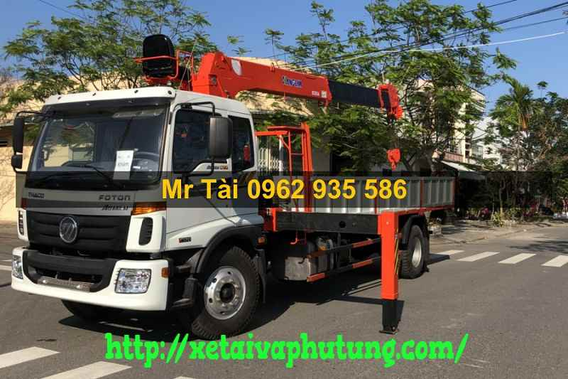 Xe Tải Thaco Auman C160 Gắn Cẩu Kanglim 5 tấn 6 đốt