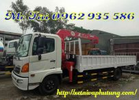 Xe tải Hino FG gắn cẩu unic 3 tấn 4 đốt URV340