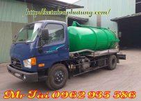 Xe hút chất thải hyundai 110s thể tích 5,5 m3