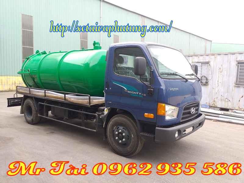Xe hút chất thải hyundai hd110s 5,5 m3