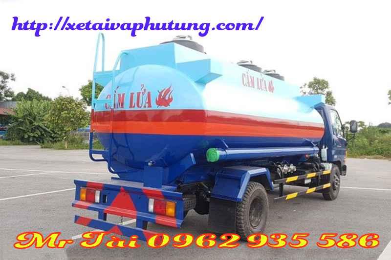Xe xi téc chở xăng dầu hyundai 9 khối hd 800